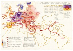 Carte des migrations.